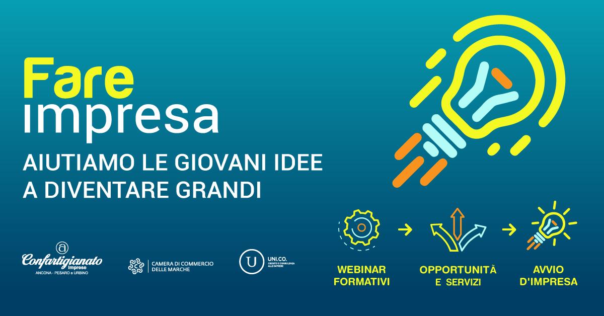 """Progetto """"Fare Impresa 2020"""" in collaborazione con Camera di Commercio, UNi.Co."""