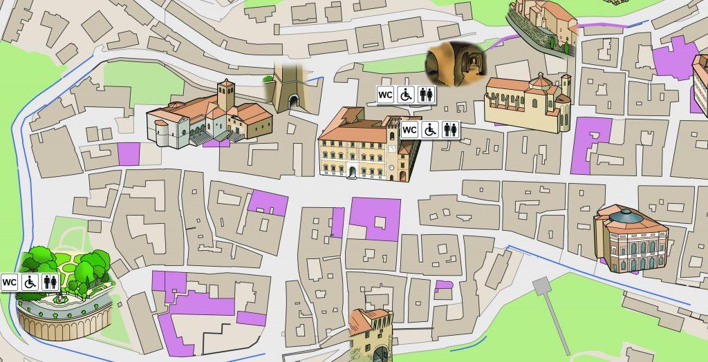 Centro Storico Osimo - Dislocazione bagni pubblici