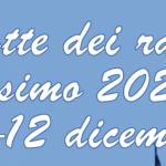 La Notte dei Racconti 10-12 dicembre 2020