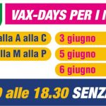I VAX DAYS PER I MATURANDI dal 2 al 6 giugno